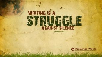 Quotes silence writing wallpaper