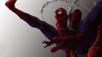 Spider-man superheroes artwork marvel comics simple background wallpaper