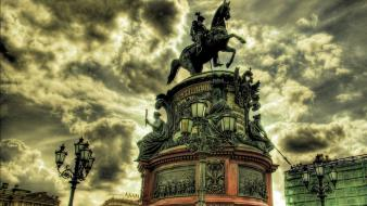 Statues hdr photography cities wallpaper