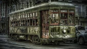 Streets new orleans photomanipulation cities trainway wallpaper