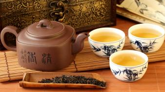 Tea chinese asia green wallpaper