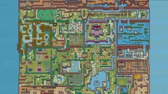 The legend of zelda maps retro 8-bit Wallpaper