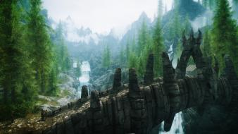 Video games landscapes skyrim elder scrolls v wallpaper