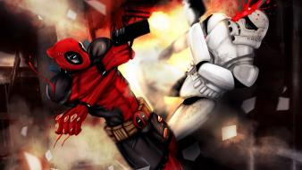 Wade wilson digital art headshot trooper pages wallpaper