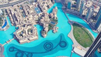Water cityscapes dubai united arab emirates vacation Wallpaper