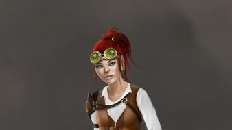 Women steampunk drawings wallpaper