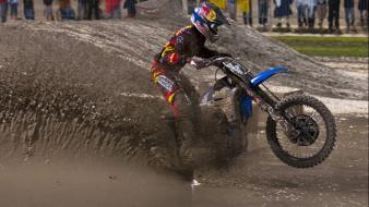 Yamaha motocross mud james stewart ama supercross js7 wallpaper