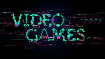 Abstract video games dark futuristic typography technology artwork wallpaper