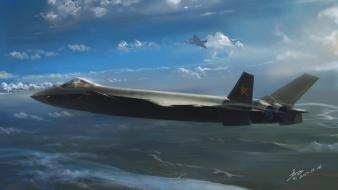 Aircraft china j-20 wallpaper