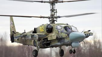 Aircraft helicopters kamov russian air force ka-52 alligator wallpaper
