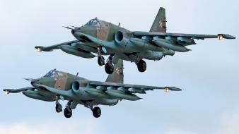 Aircraft sukhoi su-25 frogfoot russian air force wallpaper