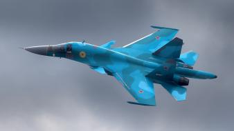 Aircraft sukhoi su-34 russian air force wallpaper