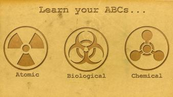 Biohazard warfare chemical weapons typography abc biological Wallpaper