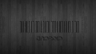 Black android barcode wallpaper