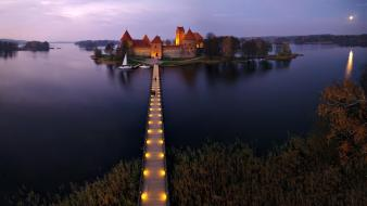 Castles lithuania trakai fort baltic states unseen wallpaper