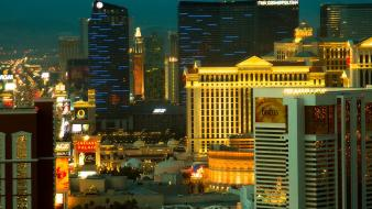 Cityscapes night las vegas buildings new york city wallpaper