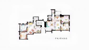 Design interior apartments friends (tv series) floor plans wallpaper