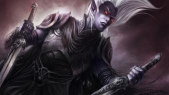 Fantasy art drizzt drow dark elf Wallpaper