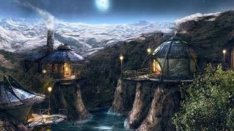 Fantasy art myst video game wallpaper