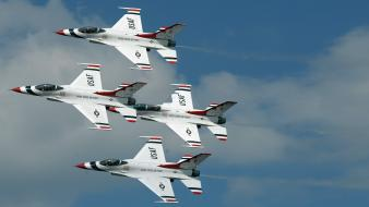 Fighting falcon jet aircraft widescreen usaf thunderbirds wallpaper