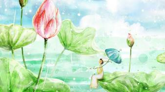 Flowers illustrations creativity tiny wallpaper