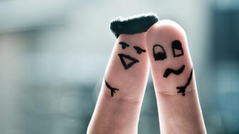 Funny fingers drawings faces body painting wallpaper