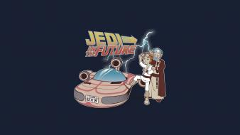 Future funny jedi back to the bttf Wallpaper