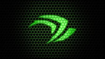 Green nvidia hexagon wallpaper