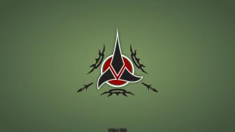 Green star trek klingons Wallpaper