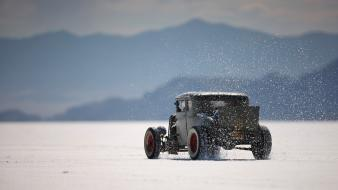Hot rod salt flats old car wallpaper