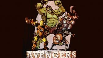 Hulk (comic character) iron man thor avengers wallpaper