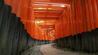 Japan architecture torii japanese fushimi inari shrine wallpaper