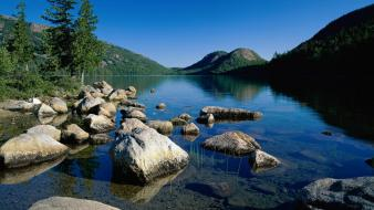 Landscapes maine jordan ponds national park acadia Wallpaper