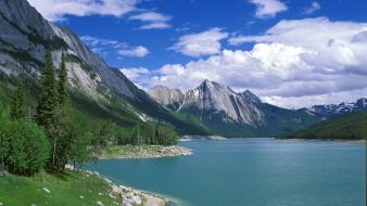 Landscapes medicine canada alberta lakes national park jasper wallpaper
