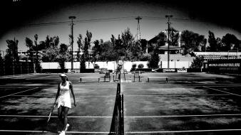 Maria sharapova tennis monochrome court players russians wallpaper