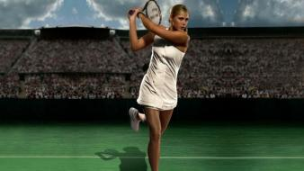 Maria sharapova tennis skyscapes racquet players russians Wallpaper