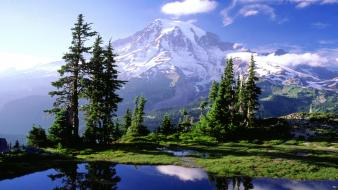 Mountains landscapes national park washington mount rainier hidden wallpaper