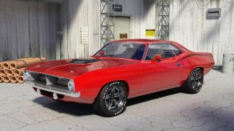 Muscle cars plymouth barracuda widescreen Wallpaper