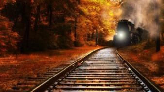 Nature trains railroad tracks railway wallpaper