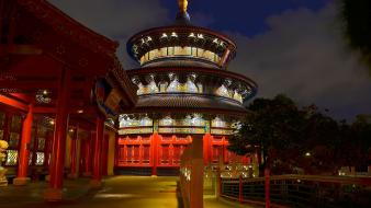 Night china architecture epcot wallpaper