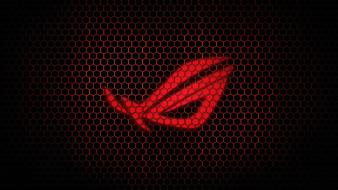Red asus rog hexagon wallpaper