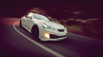 Roads photographers hyundai genesis automotive coupe automobiles wallpaper