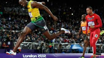 Running athletics usain bolt olympics 2012 wallpaper