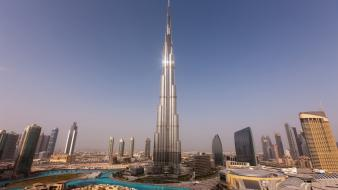 Skyscrapers united arab emirates cities burj khalifa wallpaper