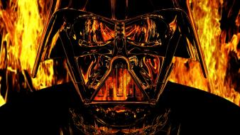 Star wars fire darth vader anakin skywalker wallpaper