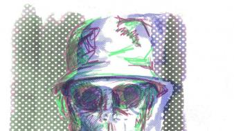 Sunglasses artwork writers hunter s. thompson Wallpaper