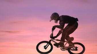 Sunset bicycles wallpaper