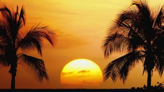 Sunset nature beach old hawaii kailua kona wallpaper