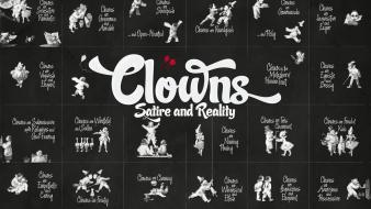 Text humor clowns typography reality artwork satire drawings Wallpaper