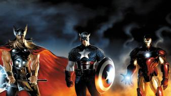 Thor captain america team marvel comic con Wallpaper